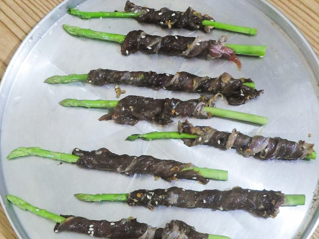 Oven Roasted Beef-Wrapped Asparagus Recipe